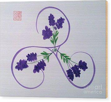 A Triskele Of Lavender Wood Print
