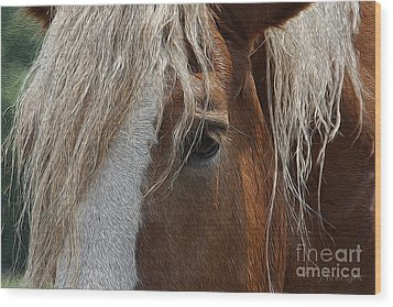 A Trusted Friend Wood Print by Yvonne Wright