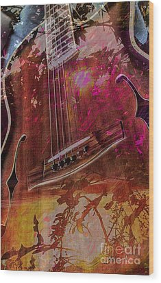 A Tune In The Woods By Steven Langston Wood Print by Steven Lebron Langston