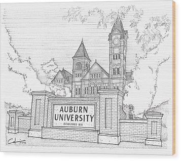 A U Wood Print by Calvin Durham
