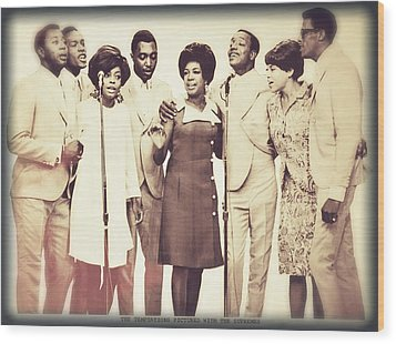 Motown Harmony Wood Print by Kellice Swaggerty