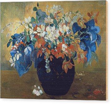A Vase Of Flowers Wood Print by Paul Gauguin