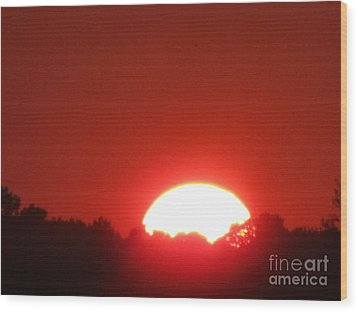 Wood Print featuring the photograph A Very Hot Sunset by Tina M Wenger