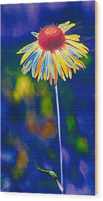 A Very Wild Flower Wood Print