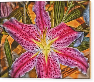 A Vibrant Lily For Your Decor Wood Print by Thomas Woolworth