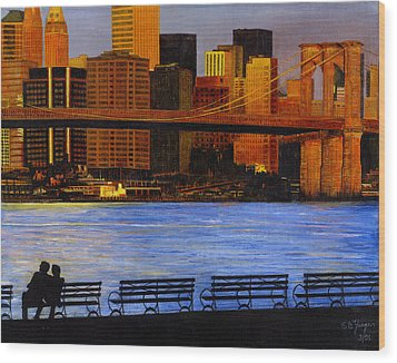 A View From Brookklyn Wood Print by Stuart B Yaeger