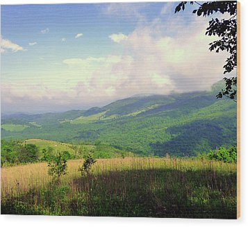 Wood Print featuring the photograph A View From Smith Mt. by Jim Whalen