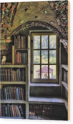 A View From The Study Wood Print by Susan Candelario