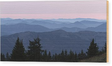 A View From Timberline Wood Print