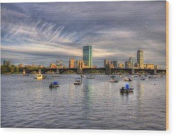A View Of Back Bay - Boston Skyline Wood Print by Joann Vitali