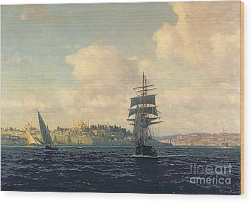 A View Of Constantinople Wood Print by Michael Zeno Diemer