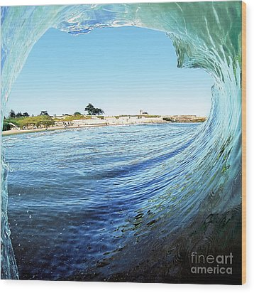 Wood Print featuring the photograph A View Of The Lighthouse by Paul Topp