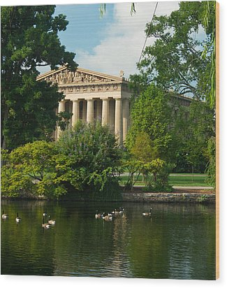 A View Of The Parthenon 17 Wood Print by Douglas Barnett