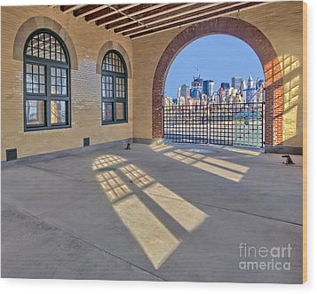 A View To Nyc Wood Print by Susan Candelario