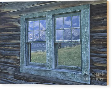 A View To The Tetons Wood Print by Sandra Bronstein