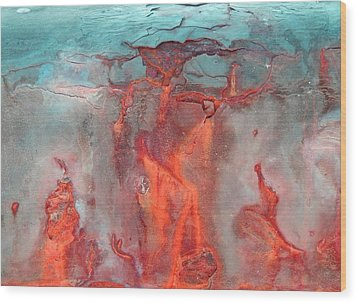 A Vision Of Hell Wood Print by Marcia Lee Jones
