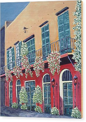 Wood Print featuring the painting A Visit To New Orleans by Suzanne Theis