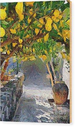 A Voult Of Lemons Wood Print