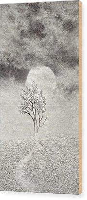 A Walk In The Moonlight Wood Print by Mark  Reep