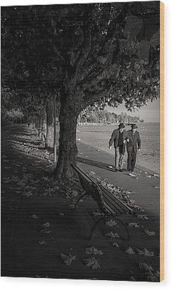 Wood Print featuring the photograph A Walk In The Park by Antonio Jorge Nunes