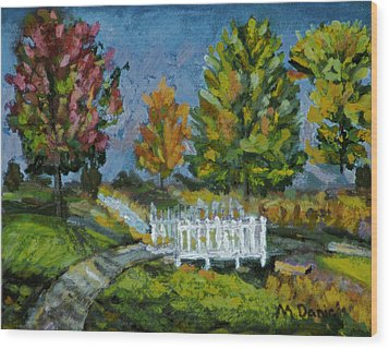 Wood Print featuring the painting A Walk In The Park by Michael Daniels