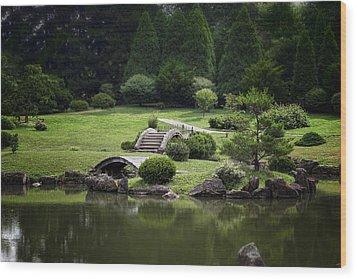 A Walk In The Park Wood Print by Tom Mc Nemar