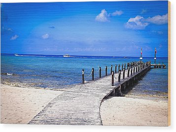 Wood Print featuring the photograph A Walk Into Blue by Phil Abrams
