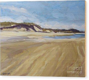 A Walk On The Beach Wood Print by Colleen Kidder