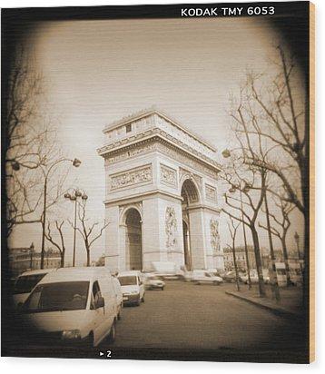 A Walk Through Paris 2 Wood Print by Mike McGlothlen
