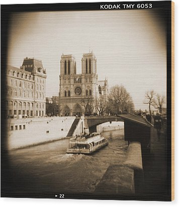 A Walk Through Paris 22 Wood Print by Mike McGlothlen