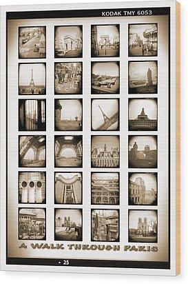 A Walk Through Paris Wood Print by Mike McGlothlen