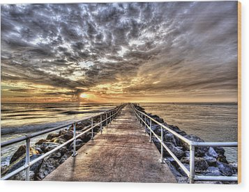 A Walk To The Horizon Wood Print by Brent Craft