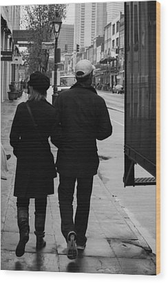 A Walk Together Wood Print