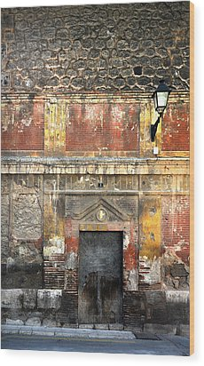 A Wall In Decay Wood Print by RicardMN Photography