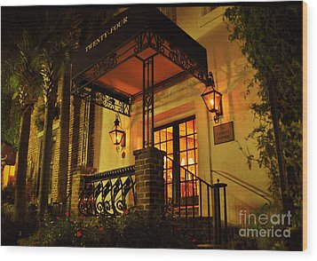 Wood Print featuring the photograph A Warm Summer Night In Charleston by Kathy Baccari