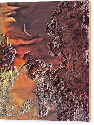 Warmer Crescent Phase Wood Print