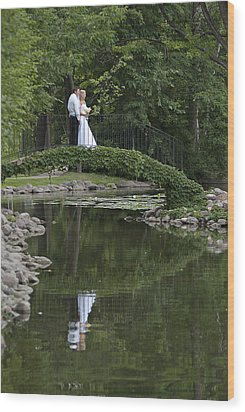 Wood Print featuring the photograph A Wedding In The Park by Judy  Johnson