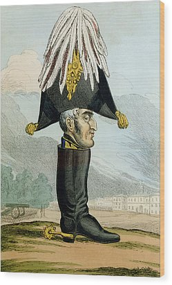 A Wellington Boot Or The Head Wood Print by English School