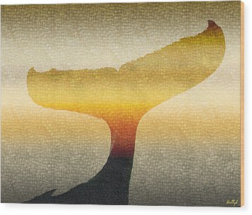 Wood Print featuring the photograph A Whales Tale by Holly Kempe