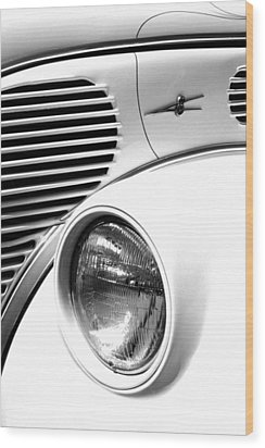 A White V8 Wood Print by Paul W Faust -  Impressions of Light
