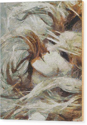 Wood Print featuring the painting A Wild Dance by Joe Misrasi