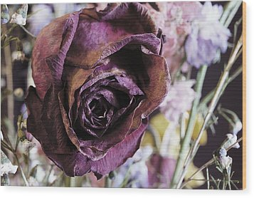 A Wilted Bouquet Wood Print by Angi Parks