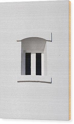 A Window In White Wood Print by Wendy Wilton