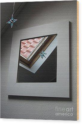Wood Print featuring the photograph A Window To Parallel World by Ausra Huntington nee Paulauskaite