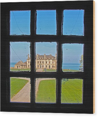 Wood Print featuring the photograph A Window To The Past by Kathleen Scanlan