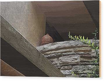 A Wine Jug Wood Print by Yvonne Wright