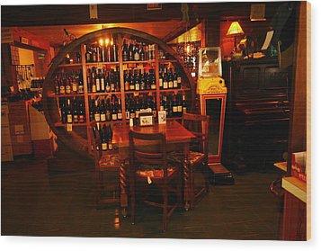 A Wine Rack Wood Print by Jeff Swan