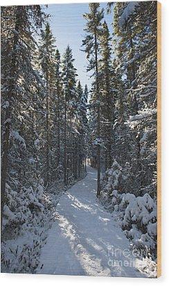 A Winter Poem.. Wood Print by Nina Stavlund