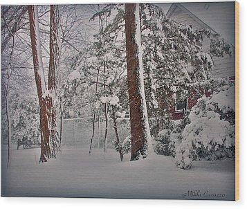 A Winter Wonderland Wood Print by Mikki Cucuzzo