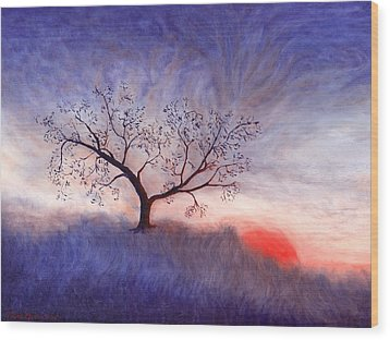 A Wintering Tree Wood Print